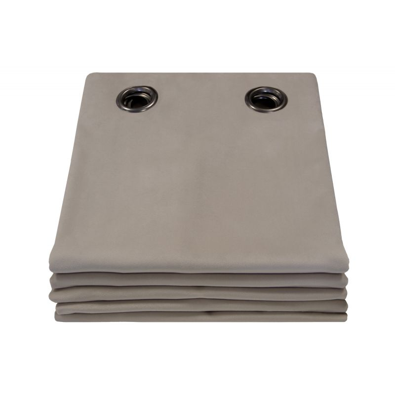 Cortina 100% Blackout de veludo Venise Taupe MC740
