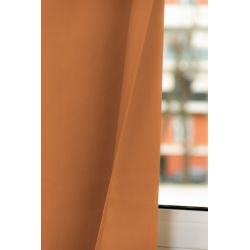 Rideau Occultant Total Sur Mesure Revolution Orange Rouille MC374