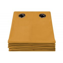 Cortina 100% Blackout de veludo Venise Amarelo MC215